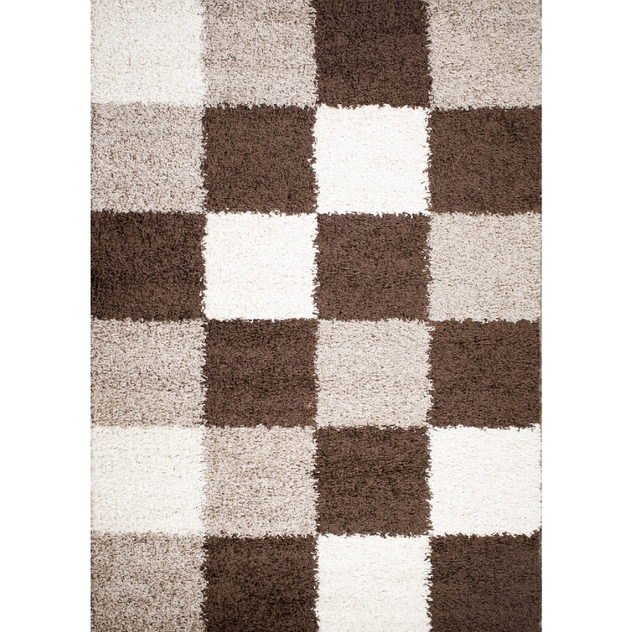 Concord Global Moderno Brown Rectangular Indoor Woven Throw Rug (Common: 3 x 5; Actual: 39-in W x 55-in L x 3.25-ft Dia)