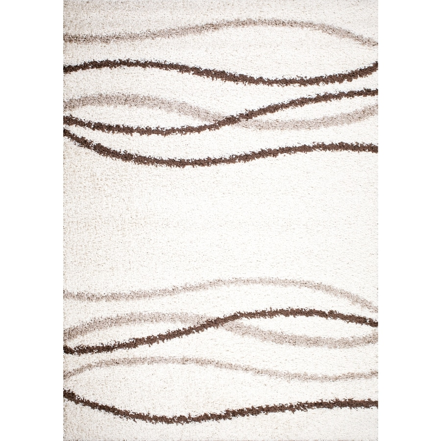 Concord Global Moderno Cream Rectangular Indoor Woven Area Rug (Common: 7 x 9; Actual: 79-in W x 111-in L x 6.58-ft Dia)