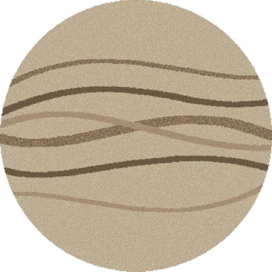 Concord Global Moderno Cream Round Indoor Woven Area Rug (Common: 7 x 7; Actual: 79-in W x 79-in L x 6.58-ft Dia)