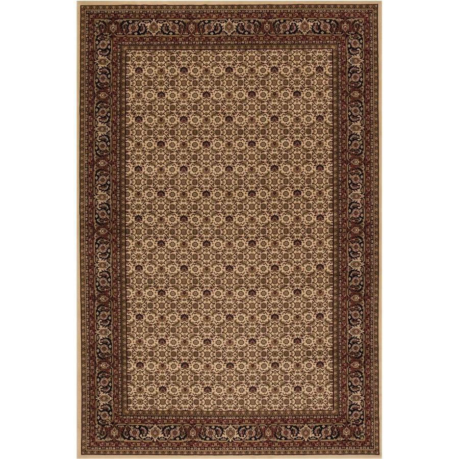 Concord Global Dynasty Ivory Rectangular Indoor Woven Oriental Area Rug (Common: 5 x 8; Actual: 63-in W x 91-in L x 5.25-ft Dia)