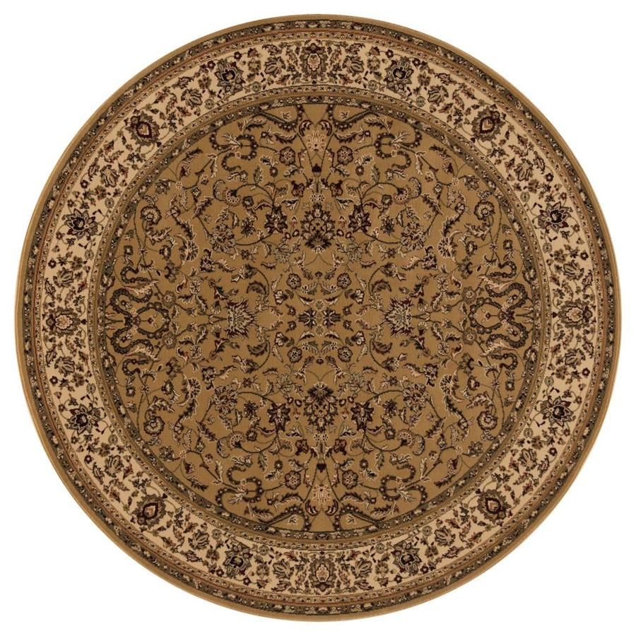 Concord Global Dynasty Gold Round Indoor Woven Oriental Area Rug (Common: 5 x 5; Actual: 63-in W x 63-in L x 5.25-ft Dia)
