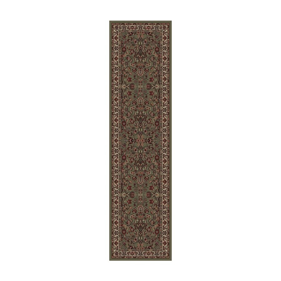 Concord Global Dynasty Green Woven Runner (Common: 2-ft x 8-ft; Actual: 2-ft x 7-ft 7-in)