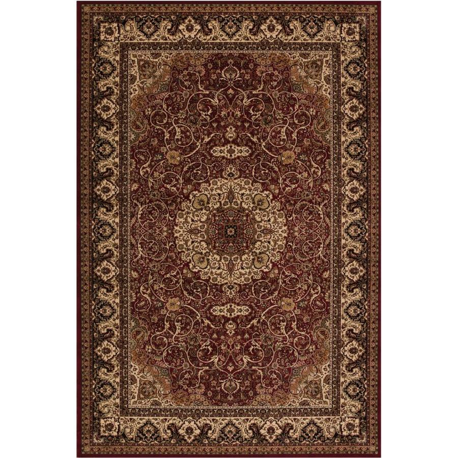 Concord Global Dynasty Red Rectangular Indoor Woven Oriental Area Rug (Common: 5 x 8; Actual: 63-in W x 91-in L x 5.25-ft Dia)
