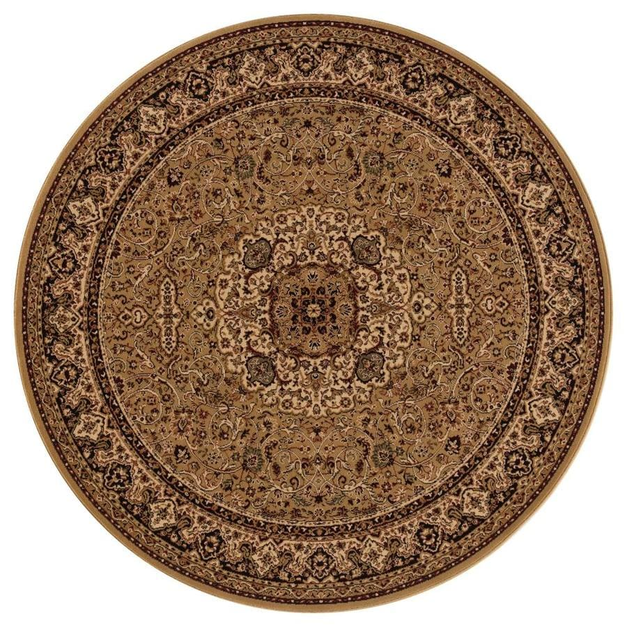 Concord Global Dynasty Gold Round Indoor Woven Oriental Area Rug (Common: 8 x 8; Actual: 94-in W x 94-in L x 7.83-ft Dia)
