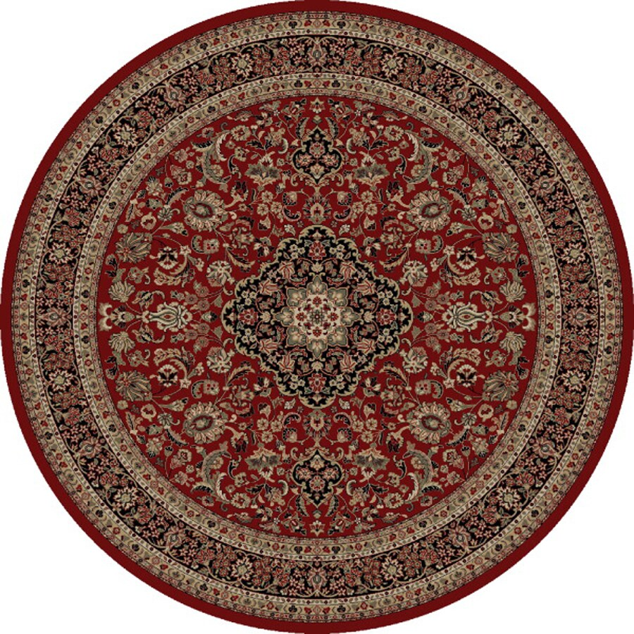 Concord Global Dynasty Red Round Indoor Woven Oriental Area Rug (Common: 8 x 8; Actual: 94-in W x 94-in L x 7.83-ft Dia)