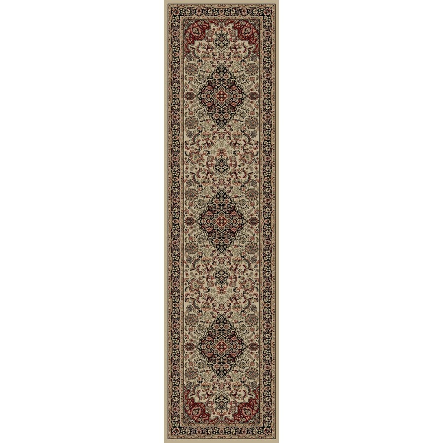 Concord Global Dynasty Ivory Rectangular Indoor Woven Oriental Runner (Common: 2 x 8; Actual: 24-in W x 91-in L x 2-ft Dia)