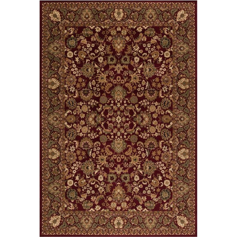 Concord Global Dynasty Red Rectangular Indoor Woven Oriental Throw Rug (Common: 3 x 5; Actual: 31-in W x 60-in L x 2.58-ft Dia)