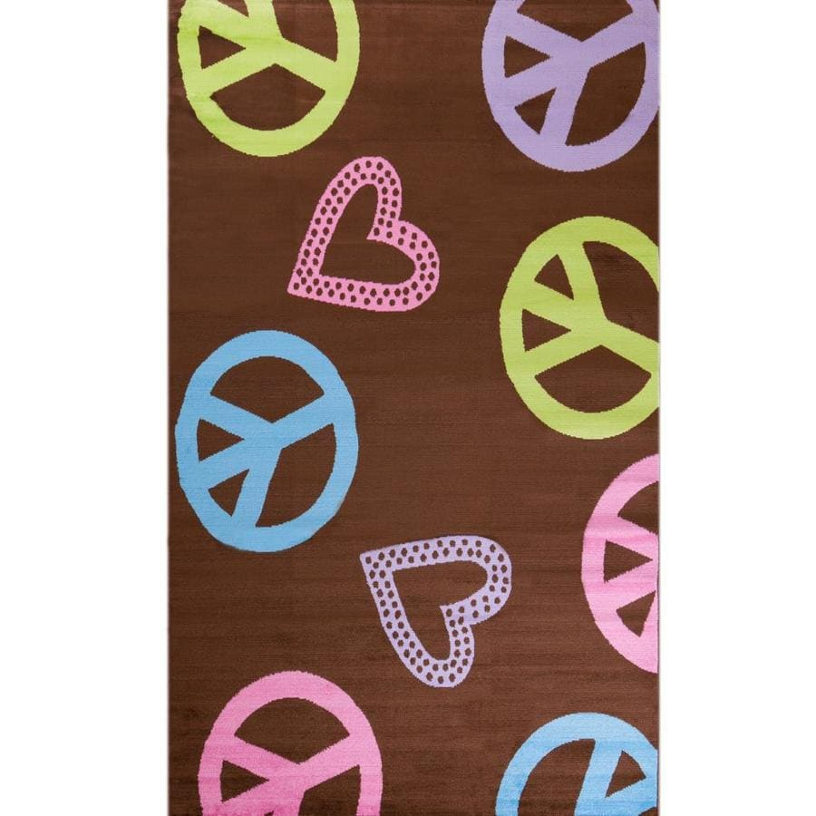 Concord Global Dante Brown Rectangular Indoor Woven Kids Area Rug (Common: 5 x 7; Actual: 60-in W x 84-in L x 5-ft Dia)