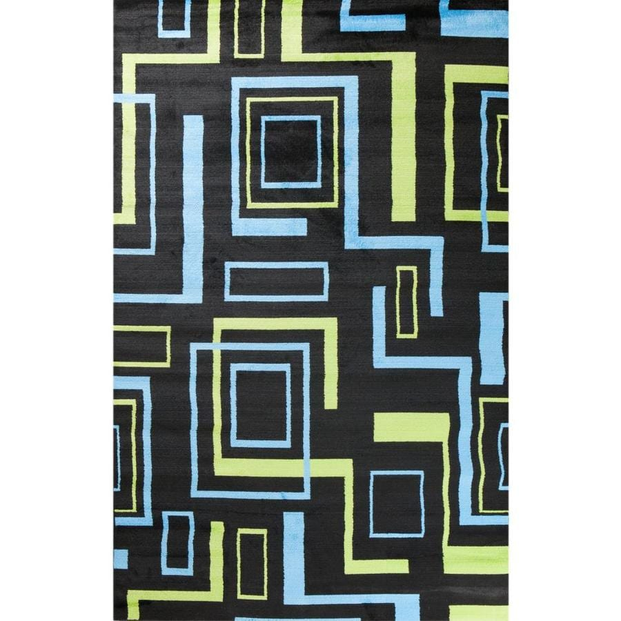 Concord Global Dante Black Rectangular Indoor Woven Kids Area Rug (Common: 5 x 7; Actual: 60-in W x 84-in L x 5-ft Dia)