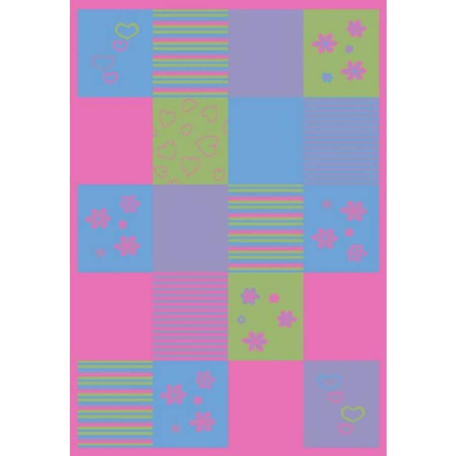 Concord Global Dante Multicolor Rectangular Indoor Woven Kids Area Rug (Common: 5 x 7; Actual: 60-in W x 84-in L x 5-ft Dia)