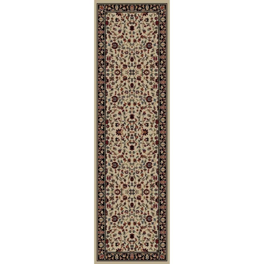 Concord Global Valencia Ivory Rectangular Indoor Woven Oriental Runner (Common: 2 x 8; Actual: 27-in W x 91-in L x 2.25-ft Dia)