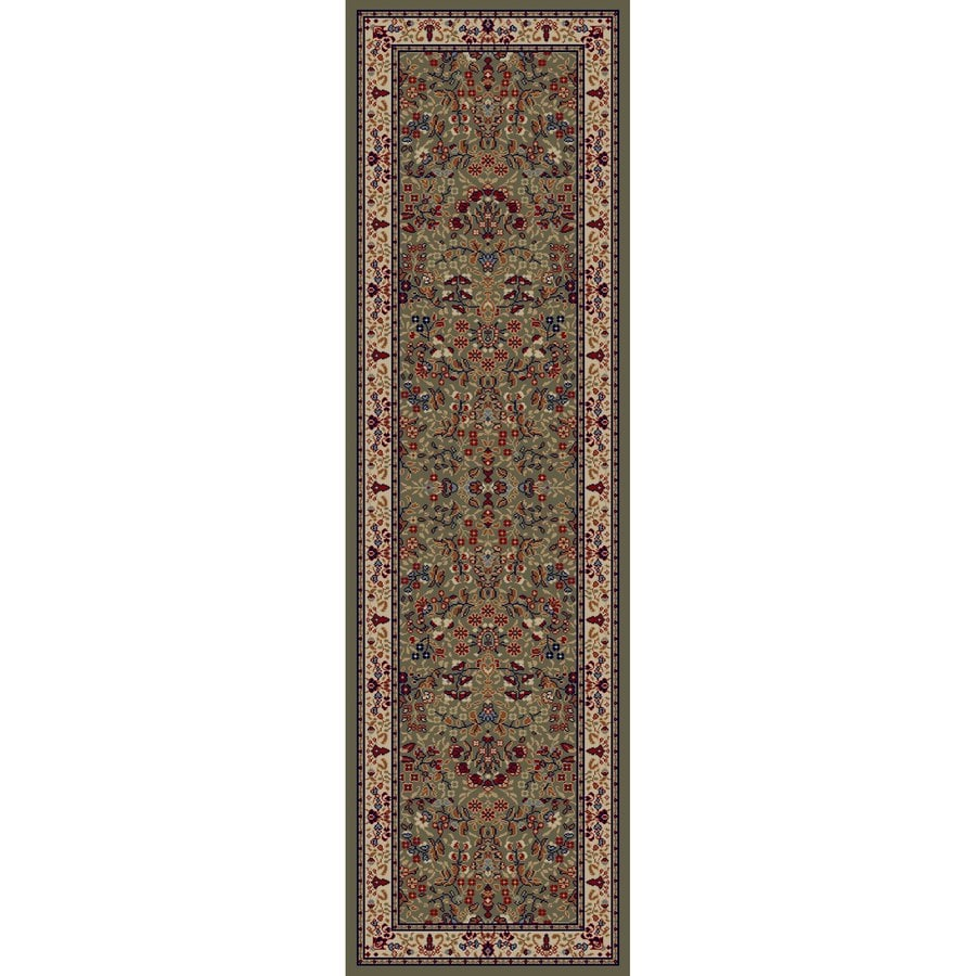 Concord Global Valencia Green Rectangular Indoor Woven Oriental Runner (Common: 2 x 8; Actual: 27-in W x 91-in L x 2.25-ft Dia)