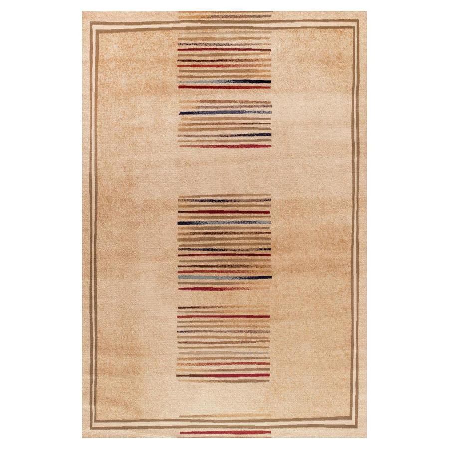 Concord Global Valencia Ivory Rectangular Indoor Woven Oriental Area Rug (Common: 4 x 6; Actual: 47-in W x 67-in L x 3.92-ft Dia)