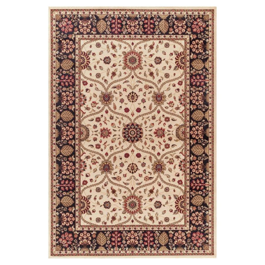 Concord Global Valencia 7-ft 10-in x 9-ft Rectangular Cream Floral Area Rug