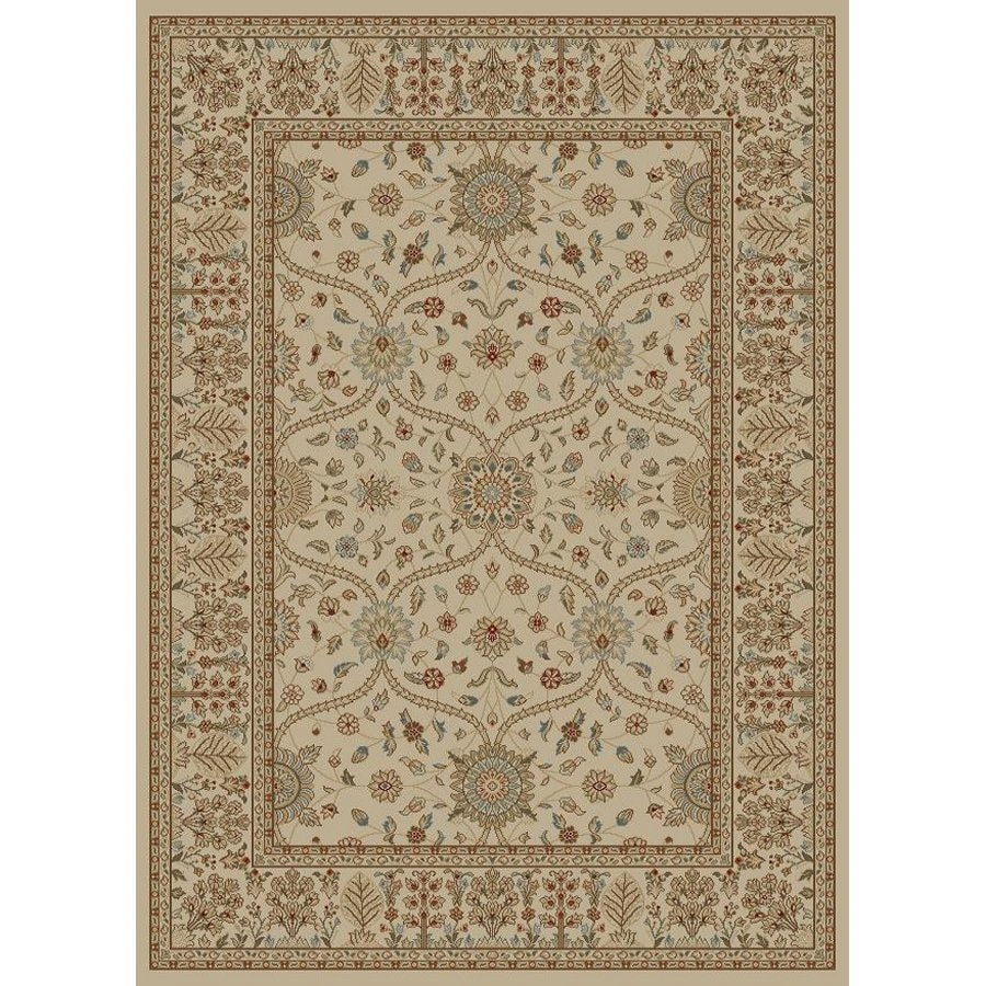 Style Selections Hangsinger Ivory Rectangular Indoor Woven Oriental Area Rug (Common: 5 x 8; Actual: 63-in W x 90-in L x 5.25-ft Dia)