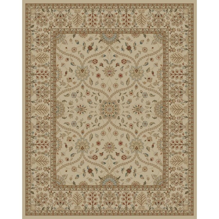 Style Selections Hangsinger Ivory Rectangular Indoor Woven Oriental Area Rug (Common: 8 x 10; Actual: 94-in W x 118-in L x 7.83-ft Dia)
