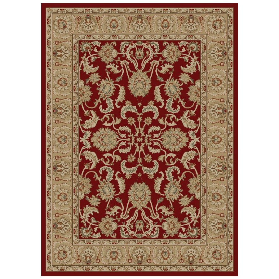 Concord Global Florence Rectangular Red Floral Woven Area Rug (Common: 5-ft x 7-ft; Actual: 5.25-ft x 7.25-ft)