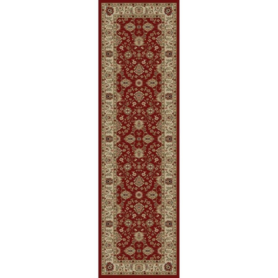 Concord Global Florence Red Rectangular Indoor Woven Oriental Runner (Common: 2 x 7; Actual: 27-in W x 87-in L x 2.25-ft Dia)