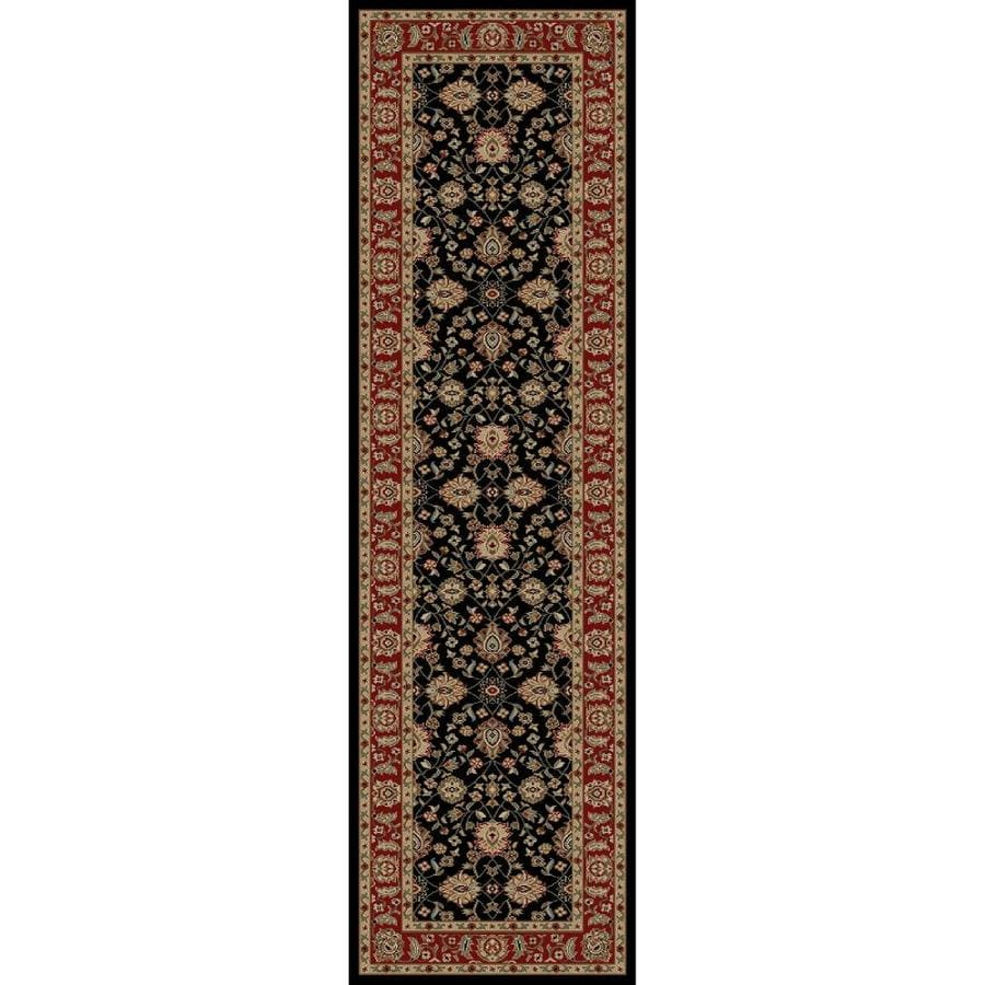 Concord Global Florence Black Rectangular Indoor Woven Oriental Runner (Common: 2 x 7; Actual: 27-in W x 87-in L x 2.25-ft Dia)