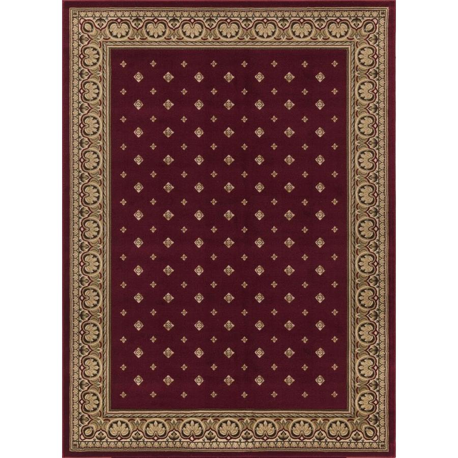 Concord Global Florence Red Rectangular Indoor Woven Oriental Area Rug (Common: 5 x 7; Actual: 63-in W x 87-in L x 5.25-ft Dia)