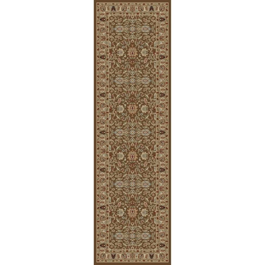 Concord Global Florence Brown Rectangular Indoor Woven Oriental Runner (Common: 2 x 7; Actual: 27-in W x 87-in L x 2.25-ft Dia)