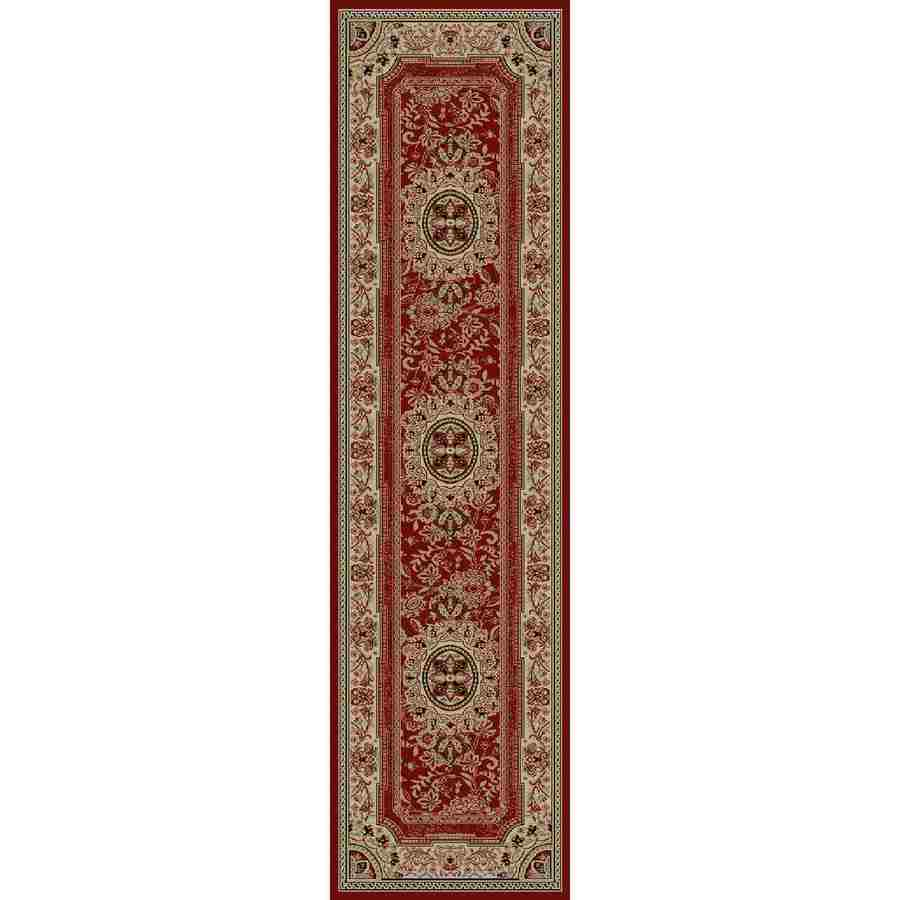 Concord Global Florence Red Rectangular Indoor Woven Oriental Runner (Common: 2 x 7; Actual: 26-in W x 87-in L x 2.17-ft Dia)