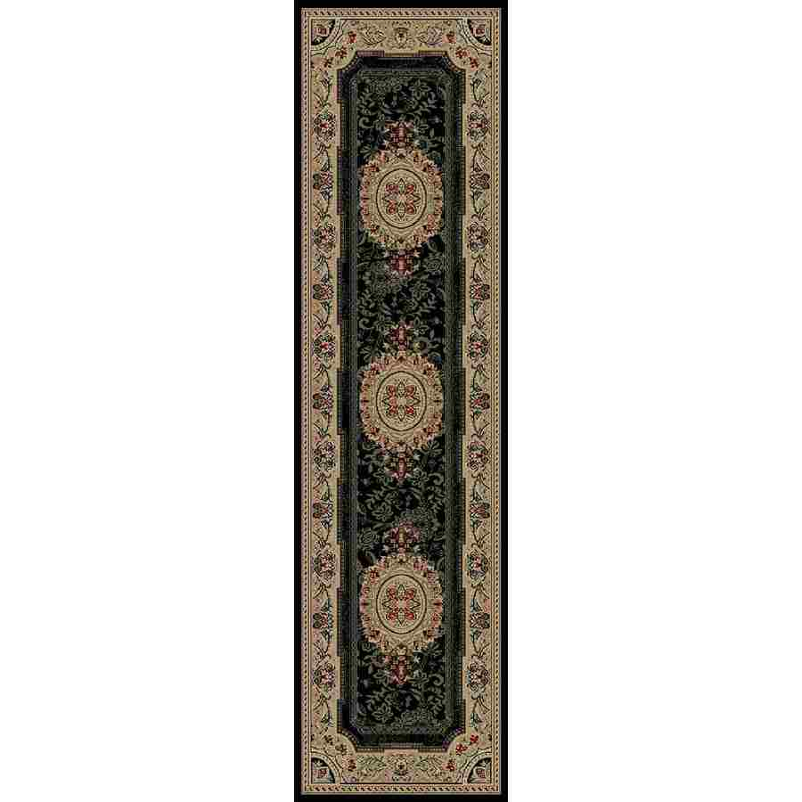 Concord Global Florence Black Rectangular Indoor Woven Oriental Runner (Common: 2 x 7; Actual: 26-in W x 87-in L x 2.17-ft Dia)