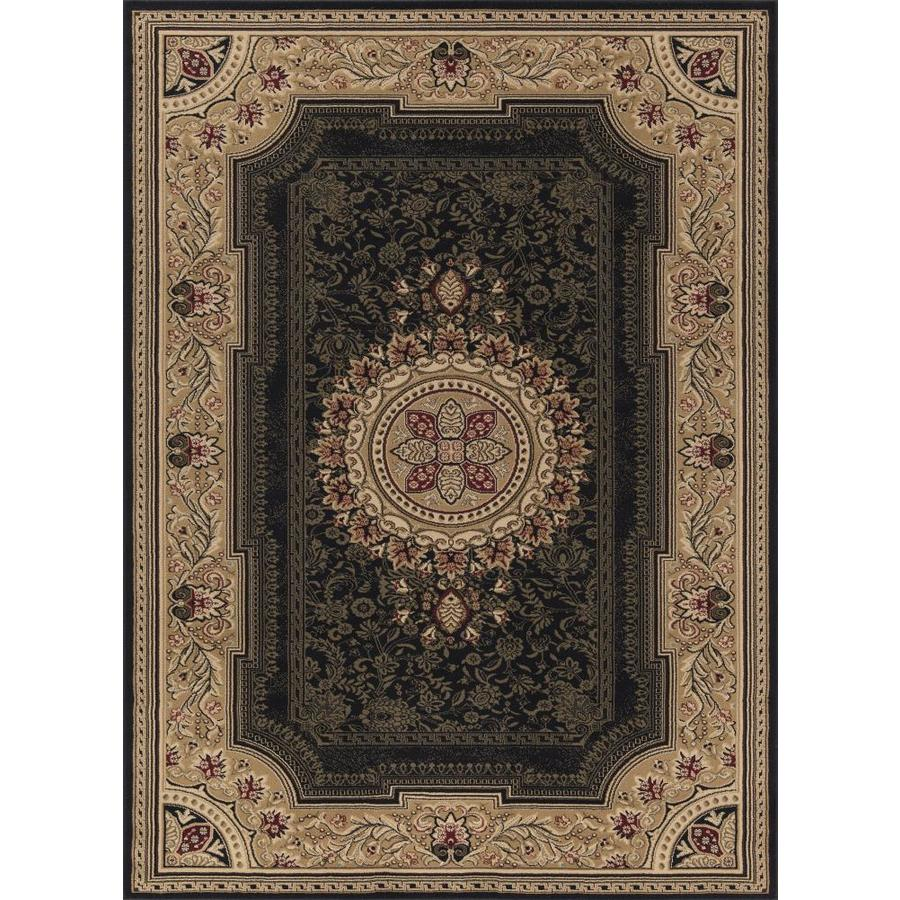 Concord Global Florence Black Rectangular Indoor Woven Oriental Area Rug (Common: 7 x 10; Actual: 79-in W x 114-in L x 6.58-ft Dia)