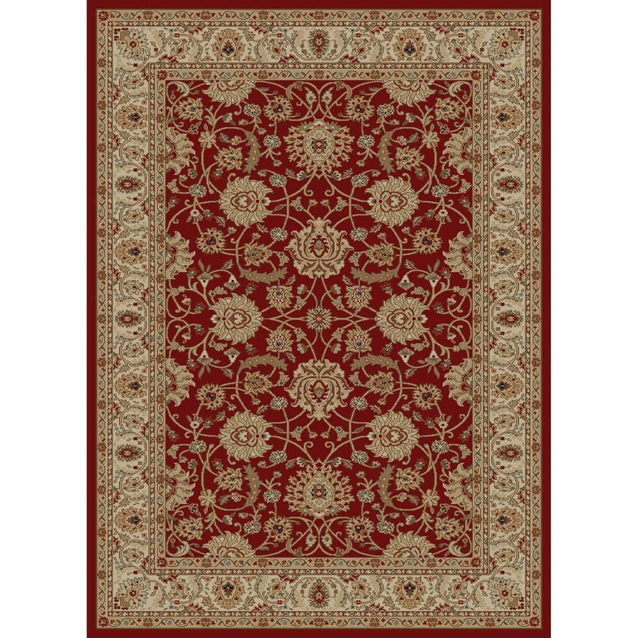 Concord Global Florence Red Rectangular Indoor Woven Oriental Area Rug (Common: 9 x 13; Actual: 111-in W x 150-in L x 9.25-ft Dia)