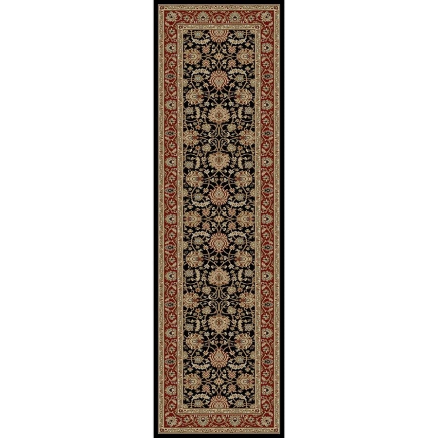 Concord Global Florence Black Rectangular Indoor Woven Oriental Runner (Common: 2 x 8; Actual: 26-in W x 87-in L x 2.17-ft Dia)