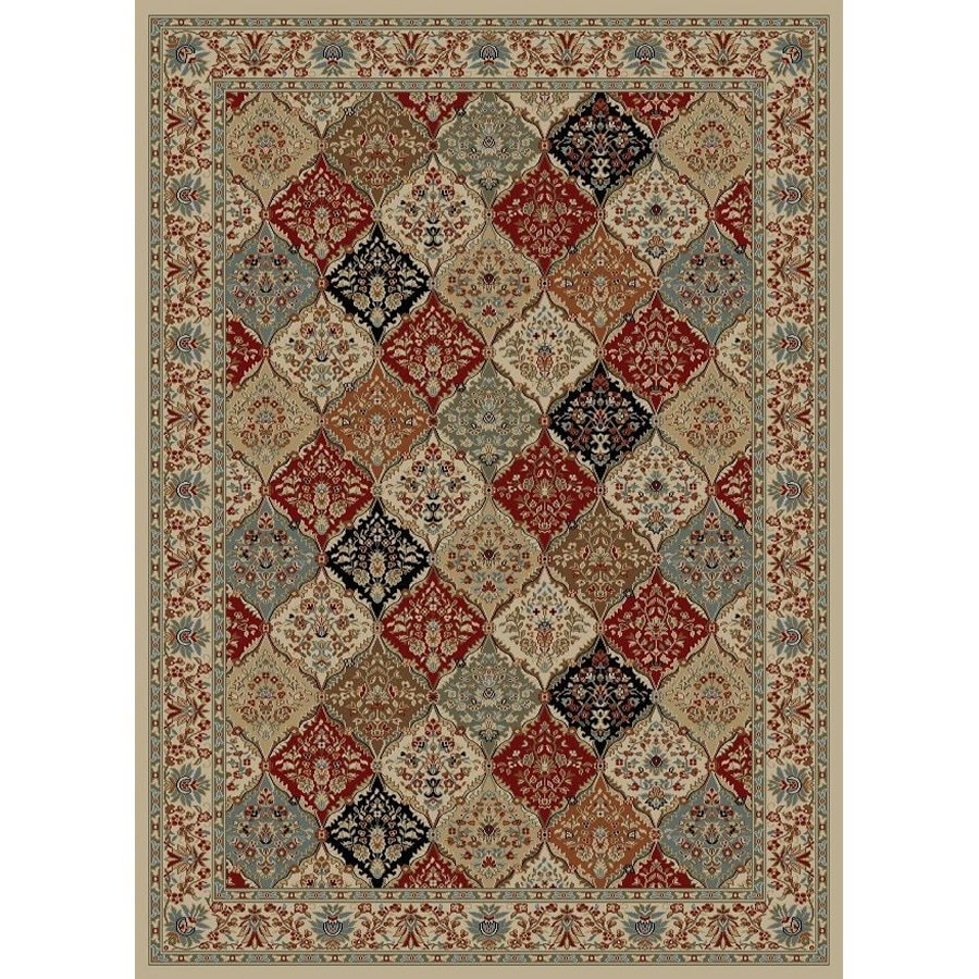 Style Selections Gabbett Multicolor Rectangular Indoor Woven Oriental Area Rug (Common: 5 x 8; Actual: 63-in W x 90-in L x 5.25-ft Dia)