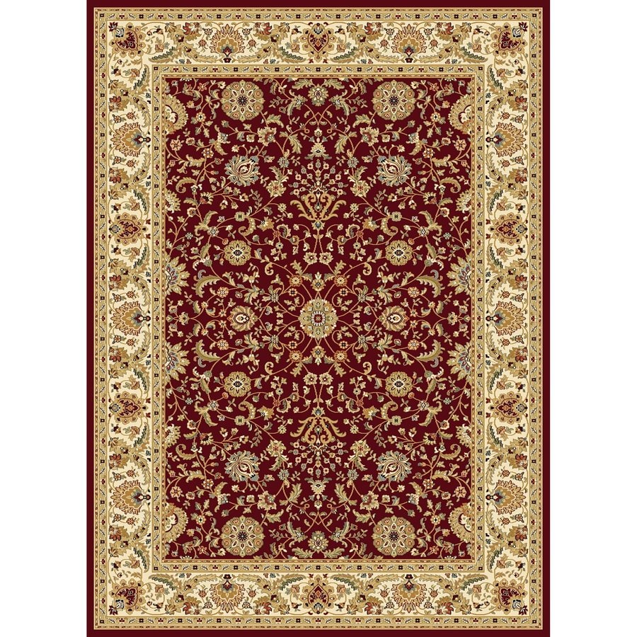 Concord Global Cyrus Red Rectangular Indoor Woven Oriental Area Rug (Common: 8 x 11; Actual: 94-in W x 130-in L x 7.83-ft Dia)