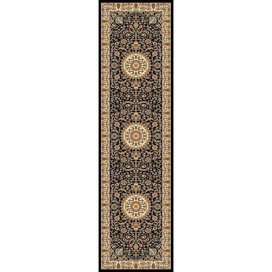 Concord Global Cyrus Black Rectangular Indoor Woven Oriental Runner (Common: 2 x 8; Actual: 26-in W x 94-in L x 2.17-ft Dia)
