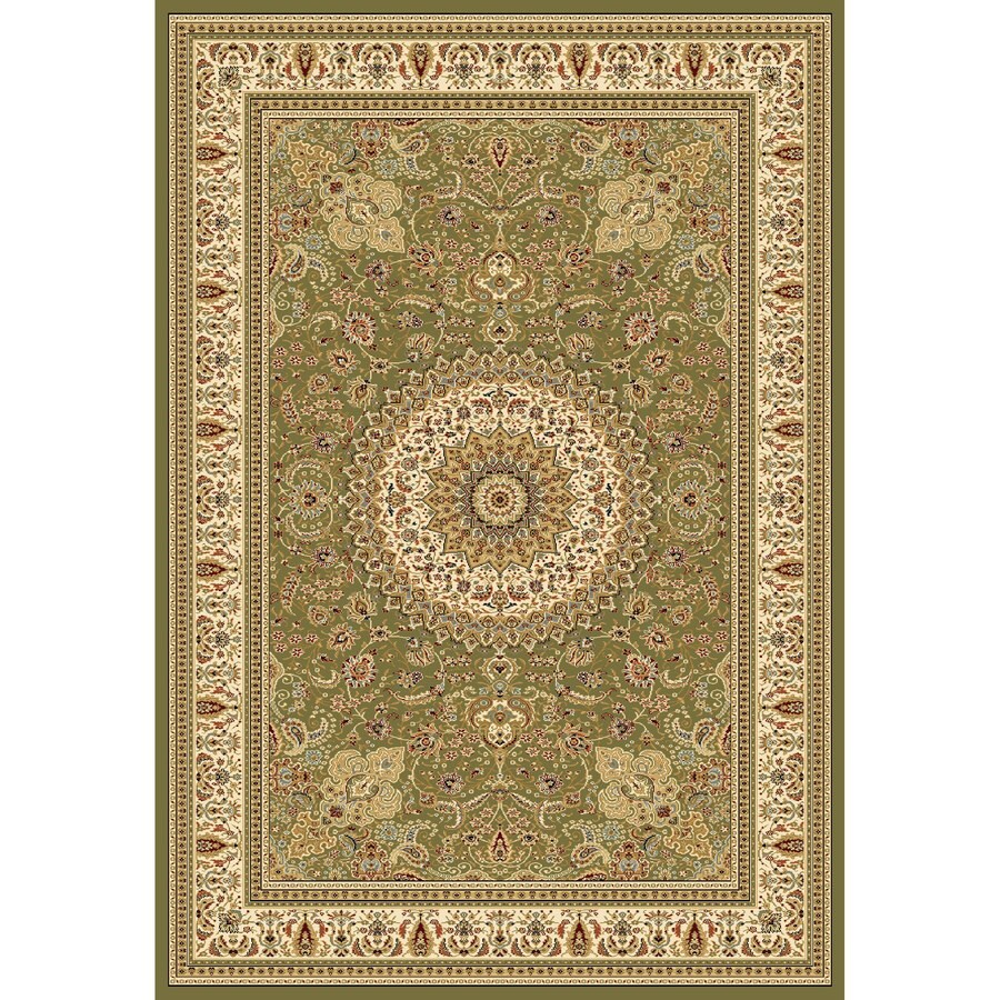 Concord Global Cyrus Green Rectangular Indoor Woven Oriental Area Rug (Common: 9 x 12; Actual: 105-in W x 148-in L x 8.75-ft Dia)