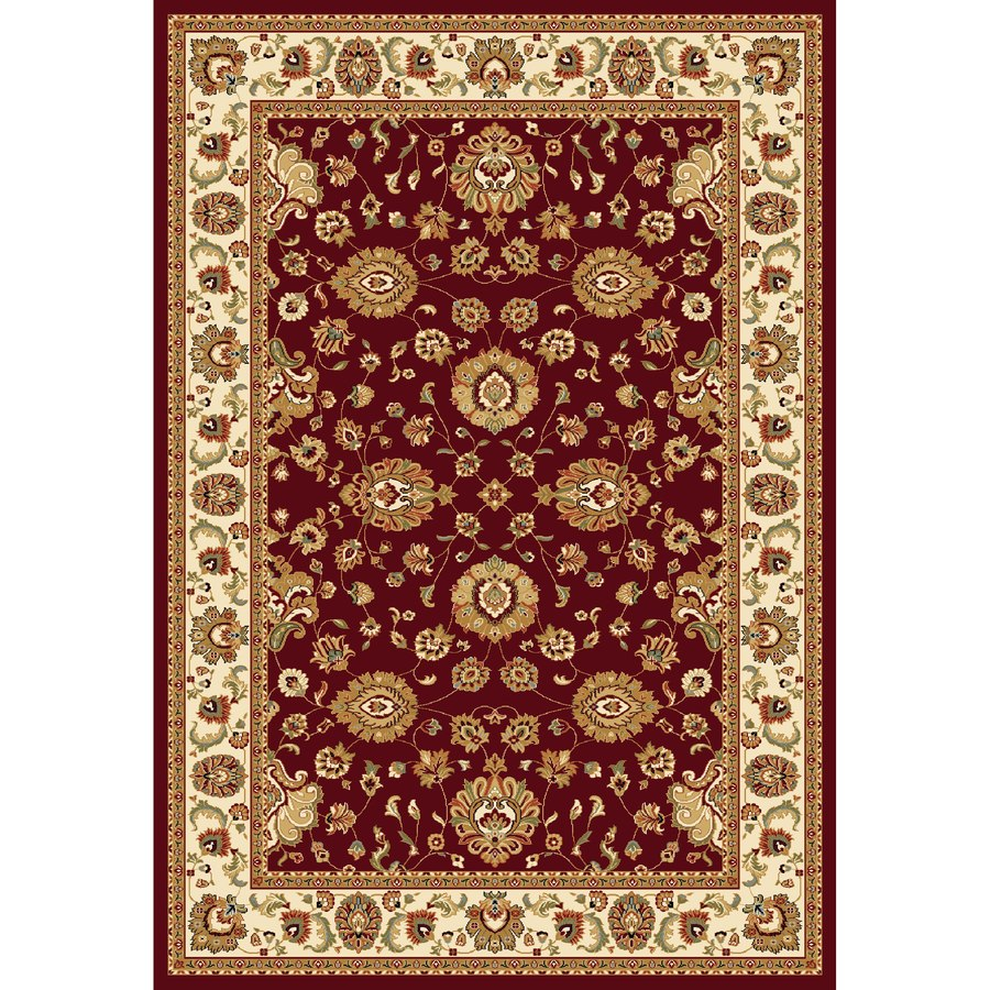 Concord Global Cyrus Red Rectangular Indoor Woven Oriental Area Rug (Common: 9 x 12; Actual: 105-in W x 148-in L x 8.75-ft Dia)