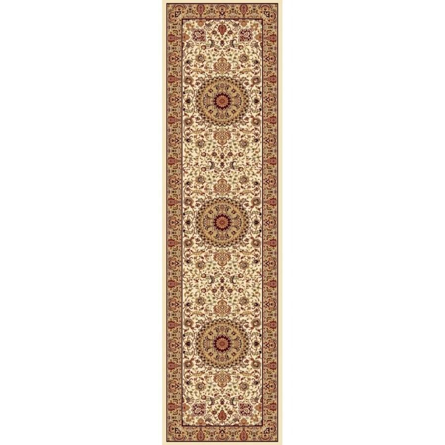 Style Selections Ecklar Cream Rectangular Indoor Woven Oriental Runner (Common: 2 x 7; Actual: 23-in W x 87-in L x 1.92-ft Dia)