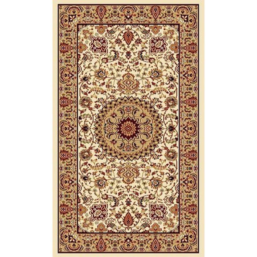 Style Selections Ecklar Cream Rectangular Indoor Woven Oriental Area Rug (Common: 2 x 3; Actual: 23-in W x 39-in L x 1.92-ft Dia)