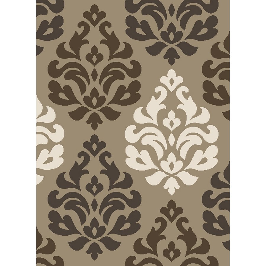 Concord Global Manhattan Beige Rectangular Indoor Woven Throw Rug (Common: 3 x 5; Actual: 39-in W x 55-in L x 3.25-ft Dia)