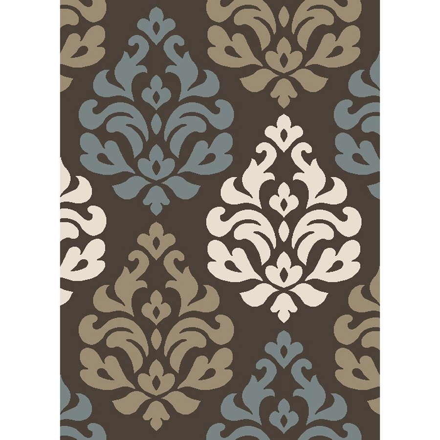 Concord Global Manhattan Brown Rectangular Indoor Woven Area Rug (Common: 7 x 10; Actual: 79-in W x 114-in L x 6.58-ft Dia)