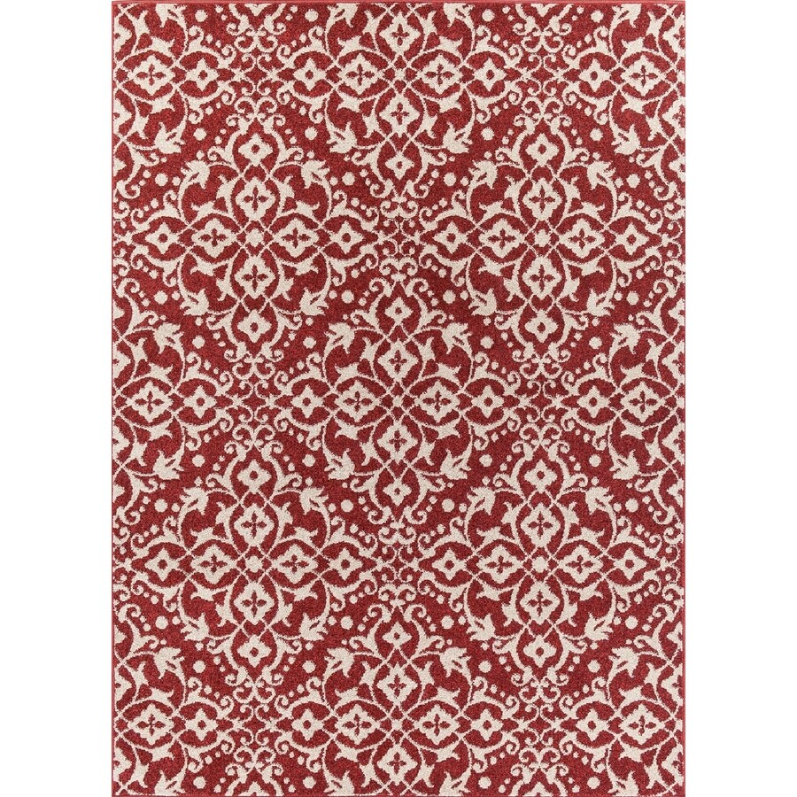 Concord Global Manhattan Red Rectangular Indoor Woven Area Rug (Common: 5 x 7; Actual: 63-in W x 87-in L x 5.25-ft Dia)