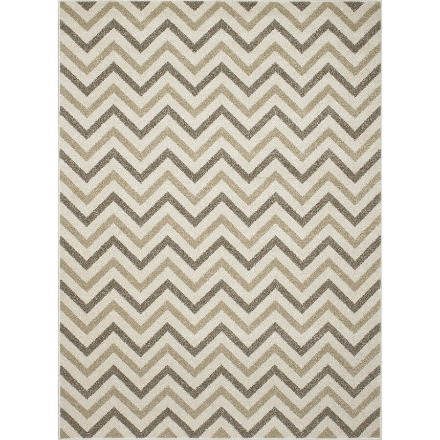 Concord Global Manhattan Ivory Rectangular Indoor Woven Area Rug (Common: 5 x 7; Actual: 63-in W x 87-in L x 5.25-ft Dia)