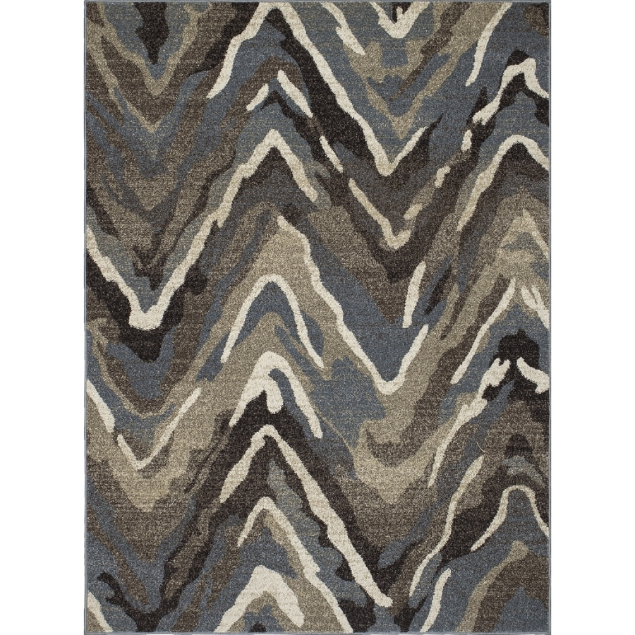 Concord Global Manhattan Blue Rectangular Indoor Woven Throw Rug (Common: 3 x 4; Actual: 31-in W x 49-in L x 2.58-ft Dia)