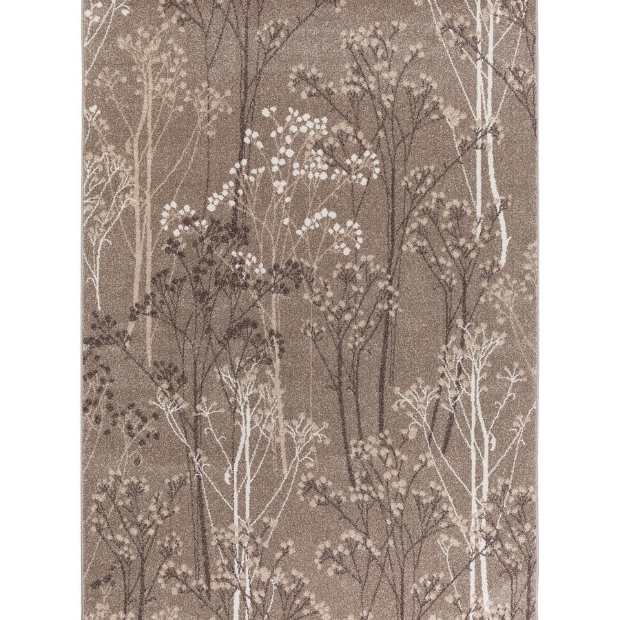 Concord Global Manhattan Taupe Rectangular Indoor Woven Nature Area Rug (Common: 3 x 4; Actual: 39-in W x 55-in L x 3.25-ft Dia)