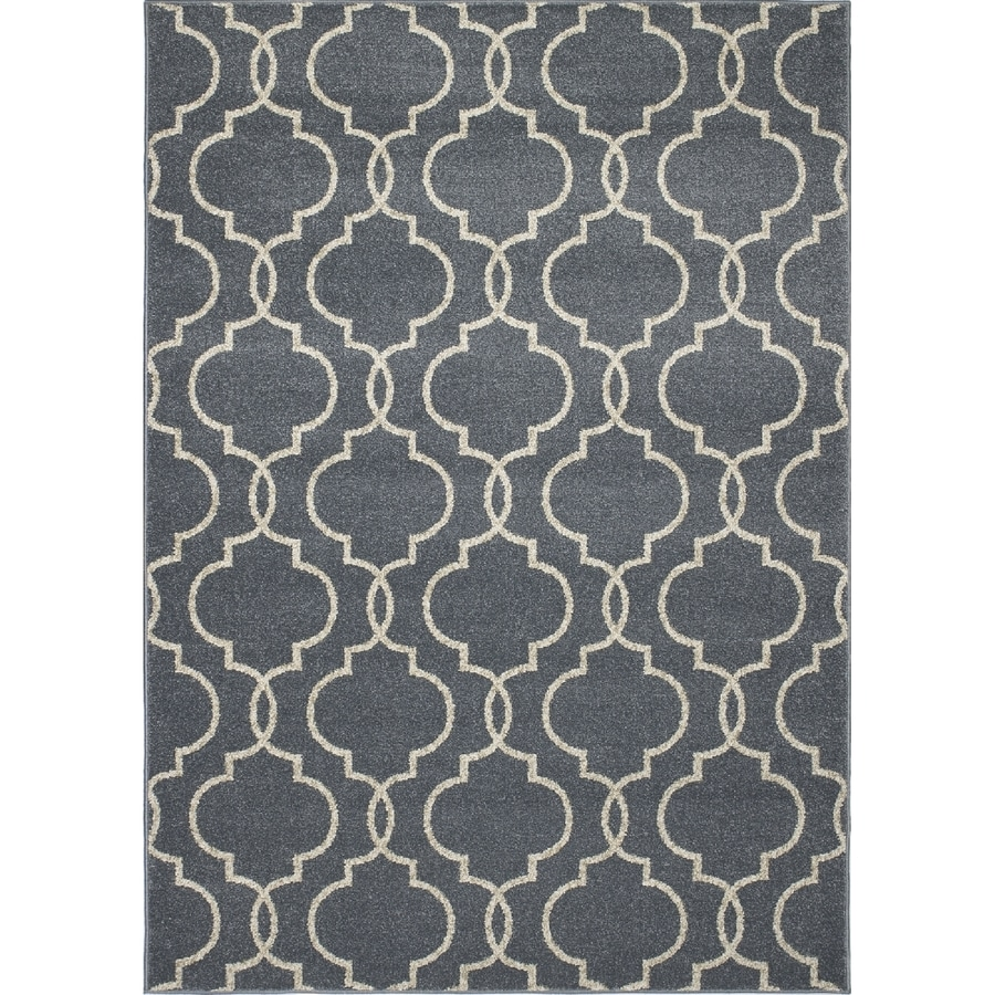 Concord Global Manhattan Blue Rectangular Indoor Woven Area Rug (Common: 5 x 7; Actual: 63-in W x 87-in L x 5.25-ft Dia)