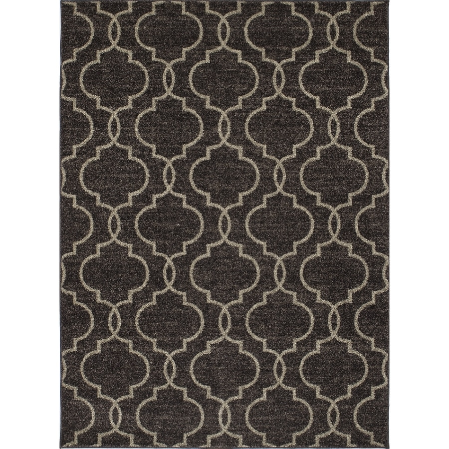 Concord Global Manhattan Brown Rectangular Indoor Woven Area Rug (Common: 5 x 7; Actual: 63-in W x 87-in L x 5.25-ft Dia)