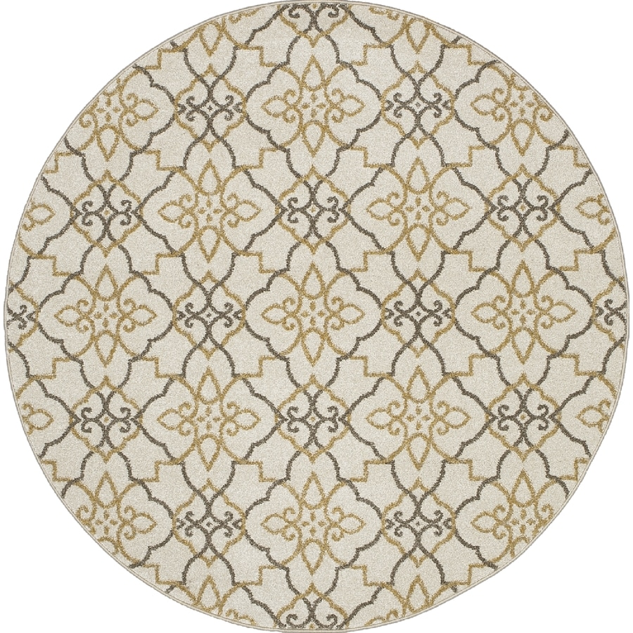 Concord Global Manhattan Ivory Round Indoor Woven Area Rug (Common: 8 x 8; Actual: 94-in W x 94-in L x 7.83-ft Dia)