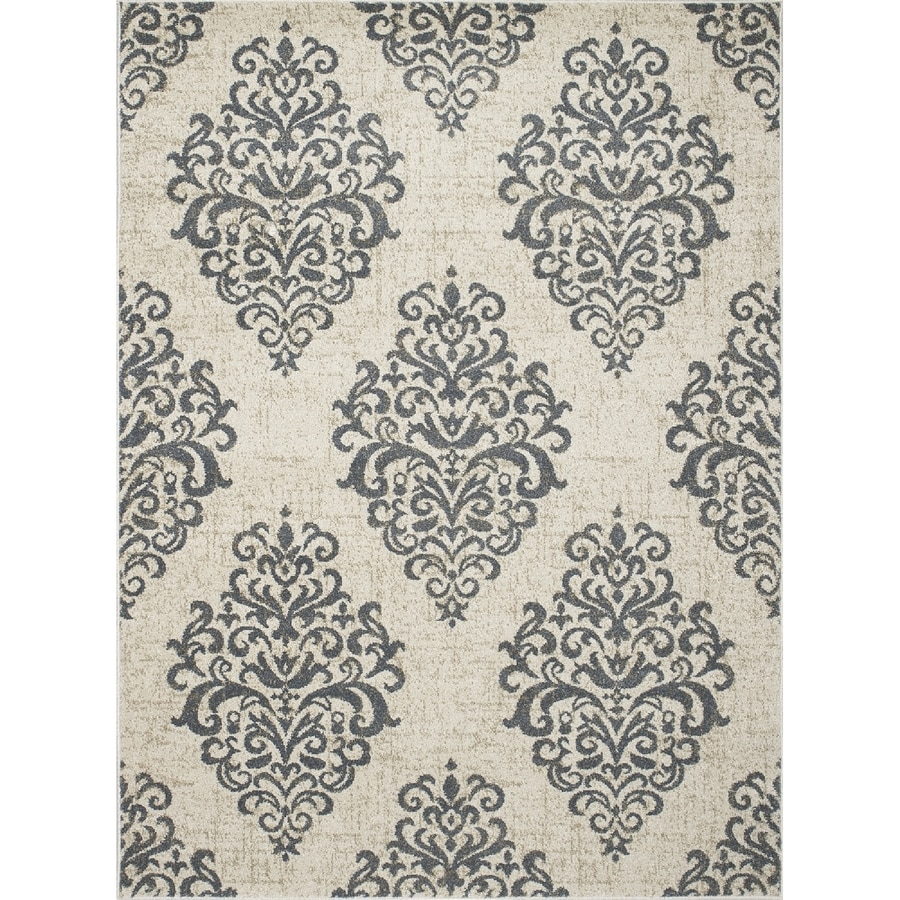 Concord Global Manhattan Blue Rectangular Indoor Woven Area Rug (Common: 3 x 5; Actual: 39-in W x 55-in L x 3.25-ft Dia)