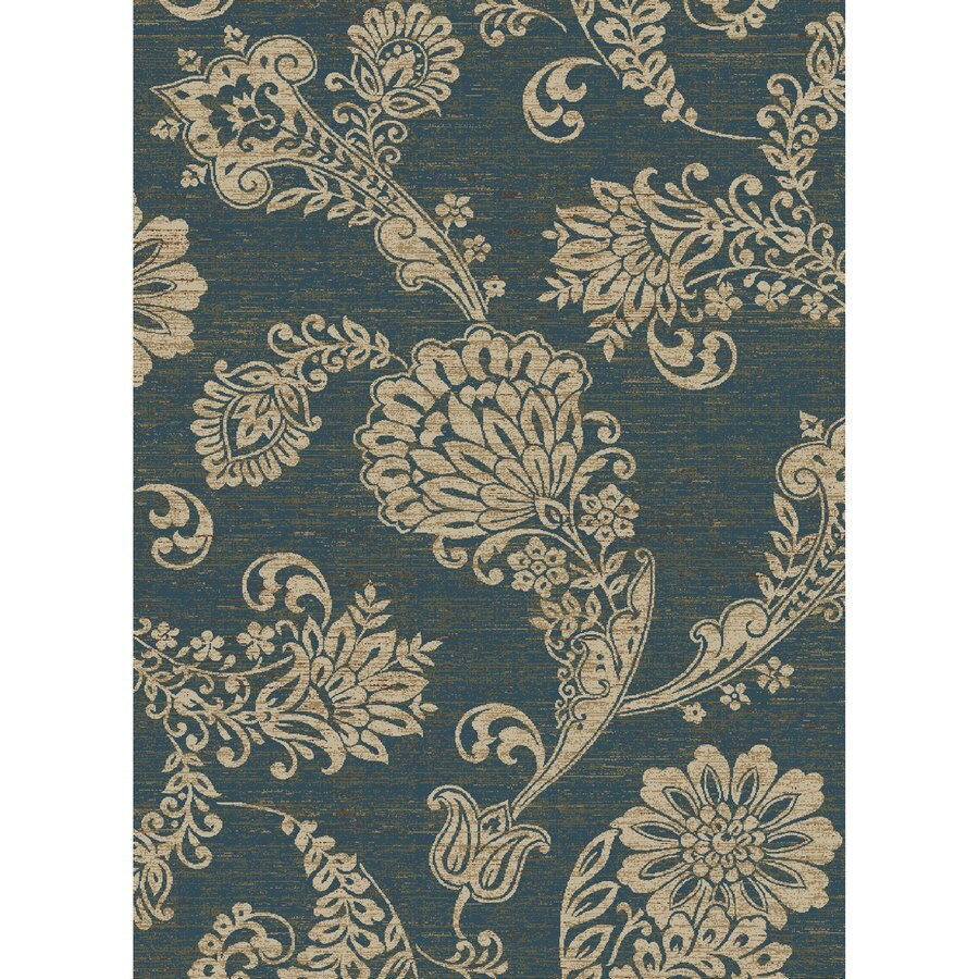 Concord Global Kensington Blue Rectangular Indoor Woven Nature Area Rug (Common: 5 x 7; Actual: 63-in W x 87-in L x 5.25-ft Dia)