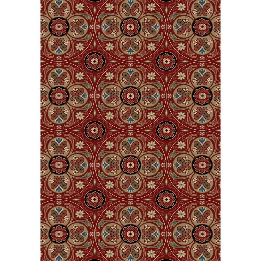 Concord Global Kensington Red Rectangular Indoor Woven Nature Area Rug (Common: 7 x 10; Actual: 79-in W x 114-in L x 6.58-ft Dia)