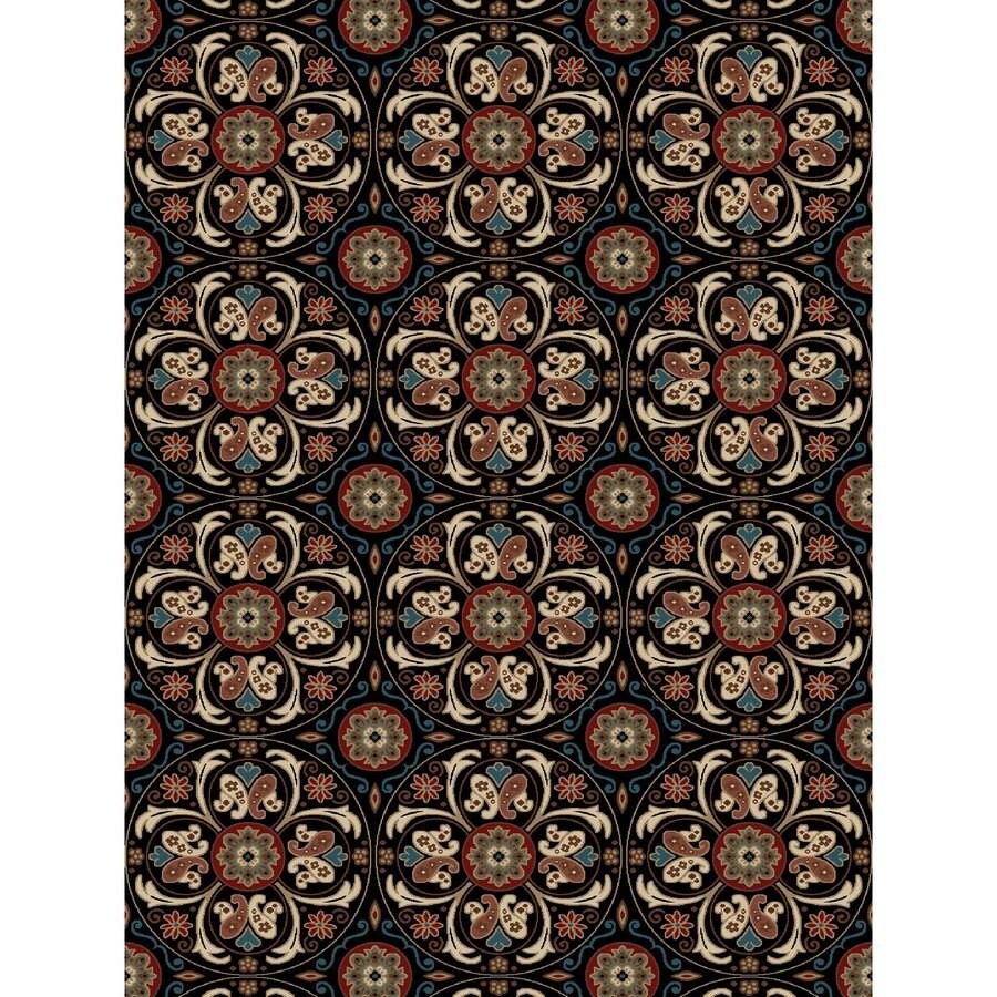 Concord Global Kensington Black Rectangular Indoor Woven Nature Area Rug (Common: 8 x 11; Actual: 94-in W x 126-in L x 7.83-ft Dia)